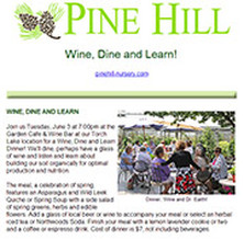 Sign up for Pine Hill Nursery email news letter